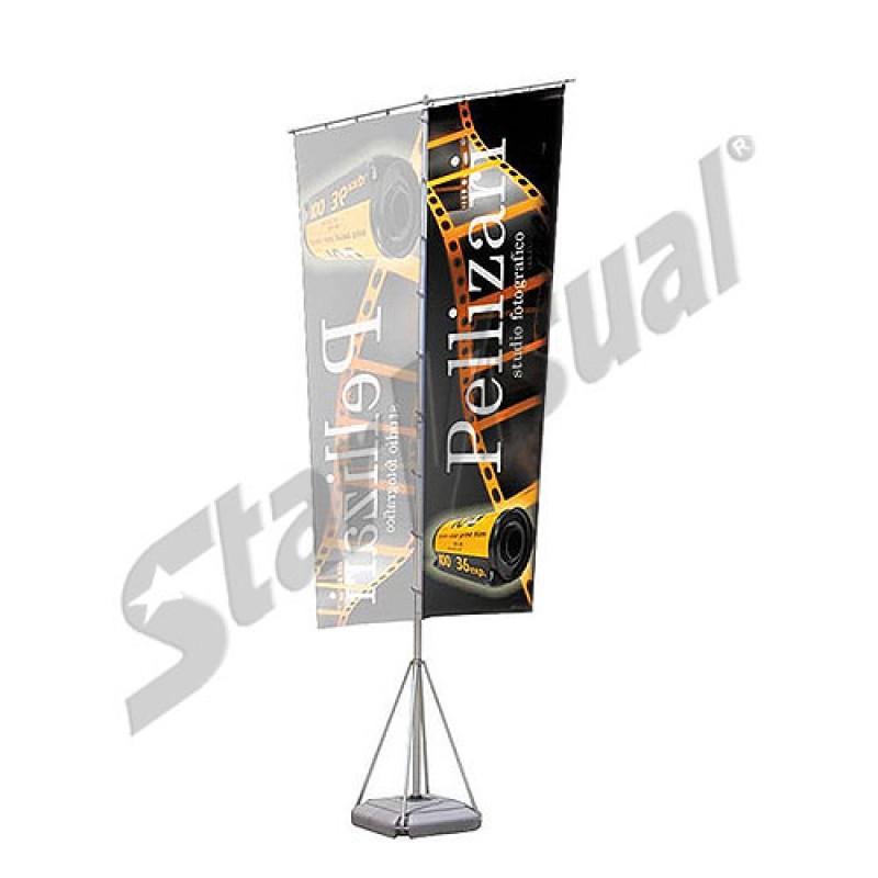 Bandiera esterno dritta doppio flag for Tavolo esterno 70x100