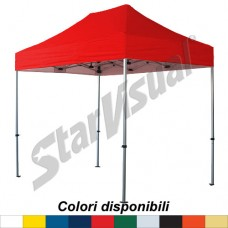 Gazebo BASIC 3x2 mt IMPERMEABILE e IGNIFUGO - colorato