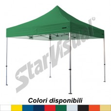 Gazebo BASIC 3x3 mt IMPERMEABILE e IGNIFUGO - colorato