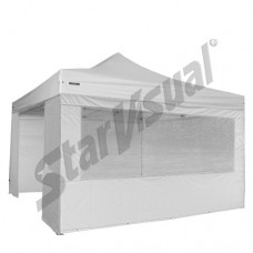 Gazebo pieghevole superprofessionale SUPER-ELEGANT 4x4 mt IMPERMEABILE con KIT PARETI
