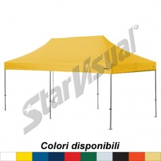 Gazebo SUPER-ELEGANT 6x3 mt IMPERMEABILE e IGNIFUGO colorato