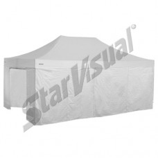 Gazebo pieghevole superprofessionale SUPER-ELEGANT 6x4 mt IMPERMEABILE con KIT PARETI